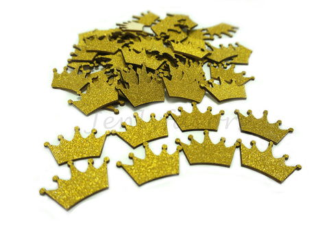 Golden Glitter Wood Crown (100 Pieces)