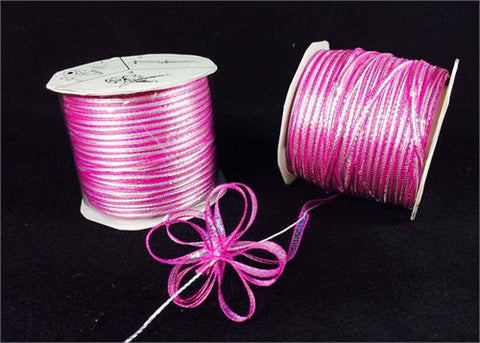 Iridescent Hot Pink 4MM Pull Bow Ribbon 100 Yard