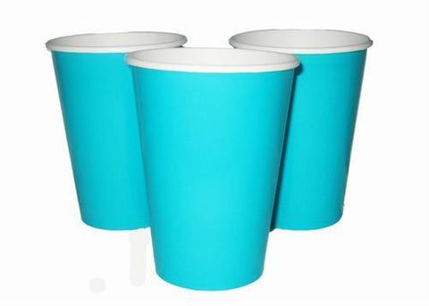 12 oz. Caribbean Teal Paper Cup (10 Pieces)