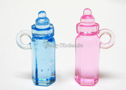 "1.5"" Plastic Mini Baby Bottles Favor (144 Pieces) Pink"
