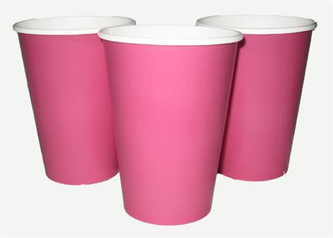 12 oz. Hot Pink Paper Cup (10 Pieces)