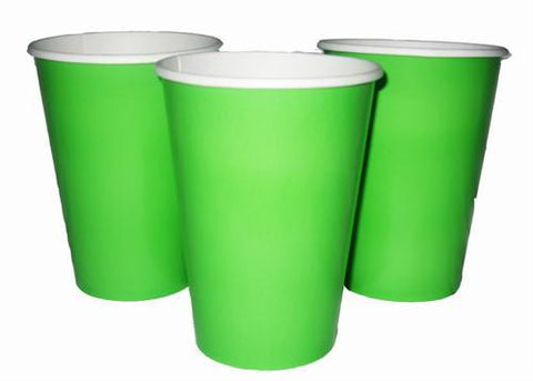 12 oz. Lime Green Paper Cup (10 Pieces)