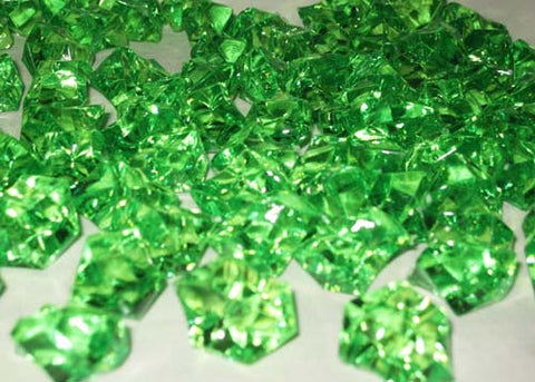 Acrylic Ice Crystal Rocks Vase Filler 23 X 18 Mm Green 1 Lbbag