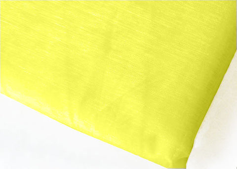 Yellow Maize Sheer Organza Drapping Sheet With Sewn Edge 28 x 6yds