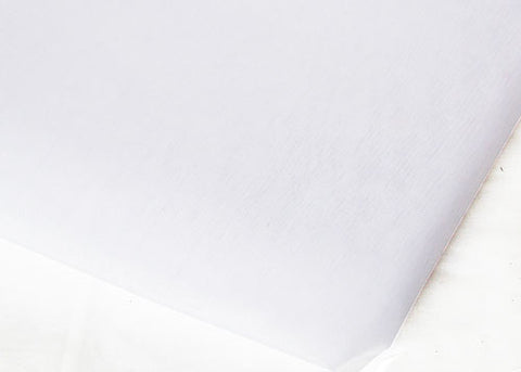 White Sheer Organza Sheet With Sewn Edge 58 x 10 yards