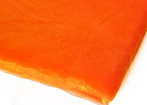 Orange & Gold Two Tone Sheer Organza Sheet with Sewn Edge 58x 10yards