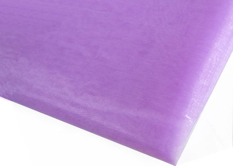 Lavender Sheer Organza Sheet With Sewn Edge 58 x 10 yards
