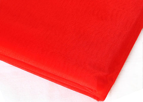Red Sheer Organza Sheet With Sewn Edge 58 x 10 yards