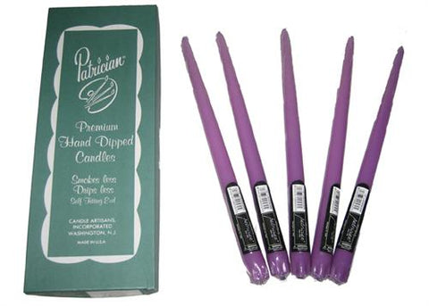 "12"" Lavender Taper Candle (Box of 12 Pieces)"