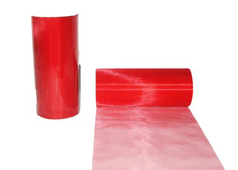 6 x 25 Yards Wide Organza Ribbon Red
