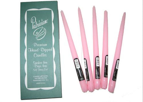 "12"" Pink Taper Candle (Box of 12 Pieces)"