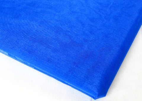 Royal Blue Sheer Organza Sheet With Sewn Edge 58 x 10 yards