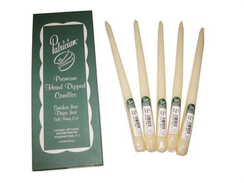 "12"" Ivory Taper Candle (Box of 12 Pieces)"