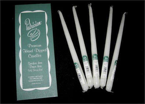 "12"" White Taper Candle (Box of 12 Pieces)"