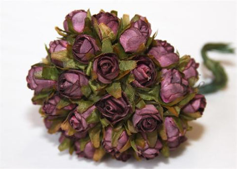 "0.5"" Burgundy Dry Look Paper Rose Bud(144 Flowers)"
