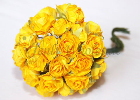 Fiesta Yellow Miniature Paper Flowers(120 Flowers)