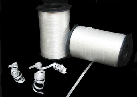 White Curly Ribbon 5mm X 500 Yards (1 Roll)