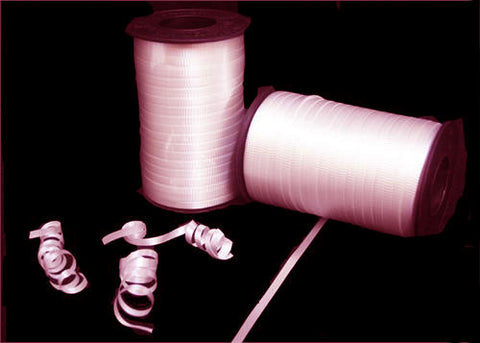 Pastel Pink Curly Ribbon 5mm X 500 Yards (1 Roll)