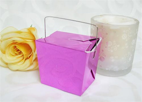 Chinese Take Out Small Box Metallic purple  (12 pcs)