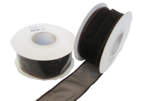 "1-1/2"" Organza Wired Ribbon Black (10 Yards)"