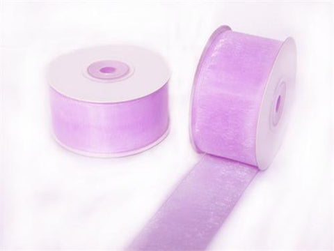 "1-1/2"" Sheer Organza Ribbon Lavender 25 Yards"