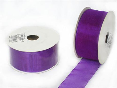 "1-1/2"" Sheer Organza Ribbon Purple 25 Yards"