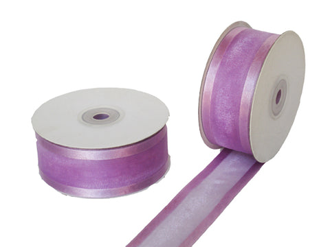 "1-1/2"" Satin Edge Organza Ribbon Lavender 25 Yards"