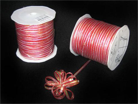 Iridescent Red 4MM Pull Bow Ribbon 100 Yard
