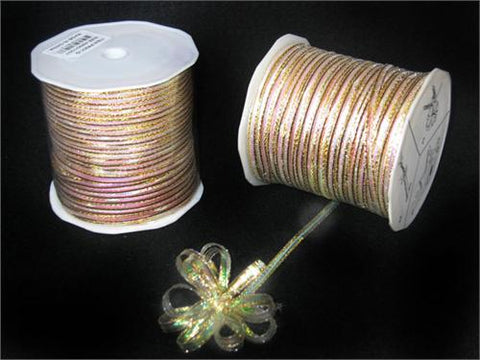 Iridescent Gold 4MM Pull Bow Ribbon 100 yard