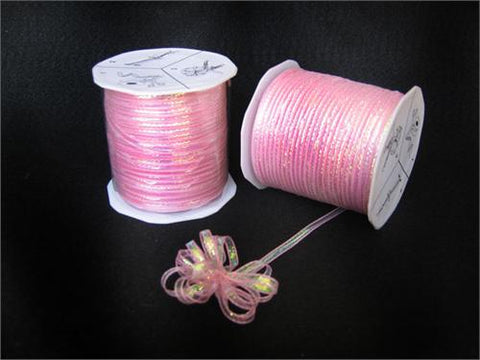 Iridescent Pink 4MM Pull Bow Ribbon 100 Yard