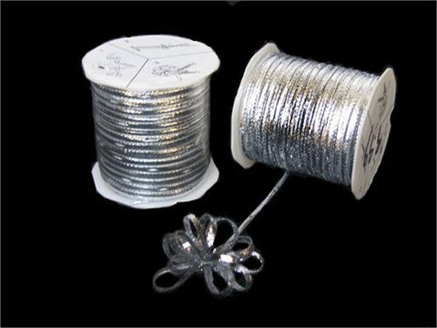 Silver 4MM Pull Bow Ribbon 100 Yard