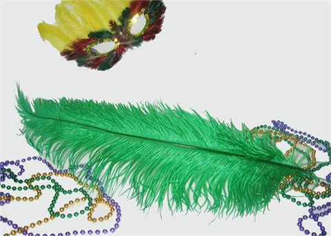 18 - 24 Inches Ostrich Dyed Emerald Feather (1 Piece)