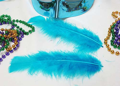 4 to 6 Inches Turquoise Feather ( 1 Bag of Appx 100 Pcs)