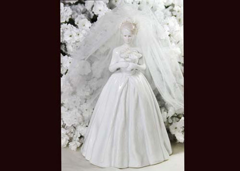 8.5 Porcelain Wedding Cake Topper Doll (1 Piece)