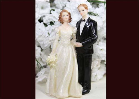 4 Poly Resin Wedding Cake Topper Couple (12 Pieces)