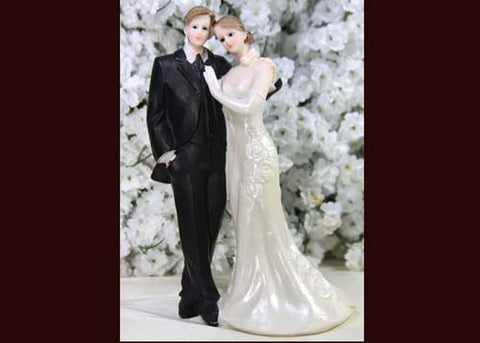 8 Poly Resin Wedding Cake Topper Couple (1 Piece)