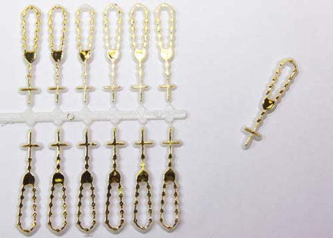 Plastic Charm Gold Rosary (144 Pieces)