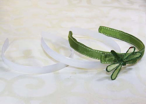 "1/2"" White Plastic HeadBand(12 Pieces)"