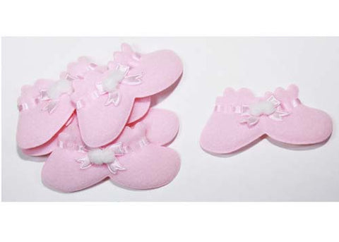 Baby Shower Decoration Cotton Baby Booties Pink (12 pieces)