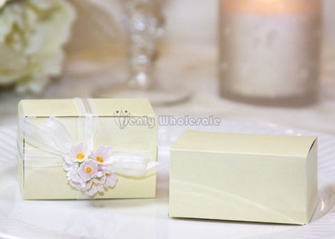 Rectangular Favor Box Ivory (12 pieces)