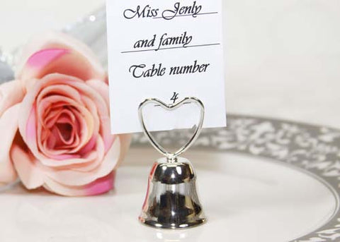 Plated Silver Bell Card Holder (12 pieces)