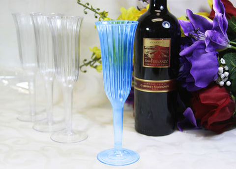 Plastic Champagne Flute Turquoise(12 Pieces)