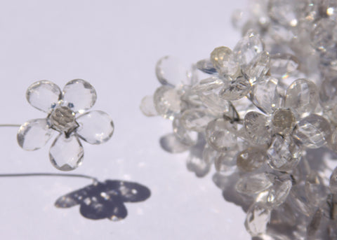 "0.75"" Mini Acrylic Crystal Flowers Clear (120 Flowers)"