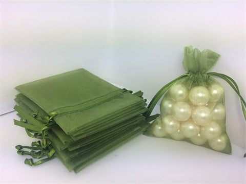 3 X 4 Moss Organza Bags (24 Pieces)