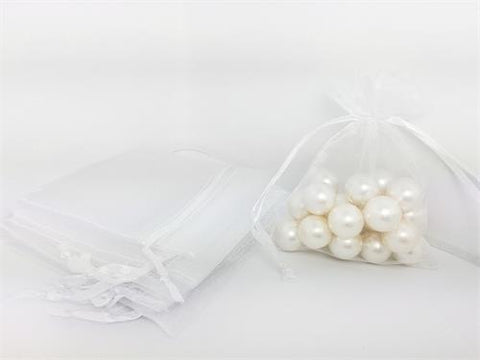 3 X 4 White Organza Bags (24 Pieces)