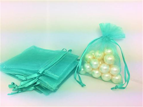 3 X 4 Tiffany Blue Organza Bags (24 Pieces)