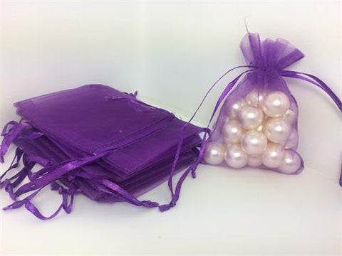 3 X 4 Purple Organza Bags (24 Pieces)