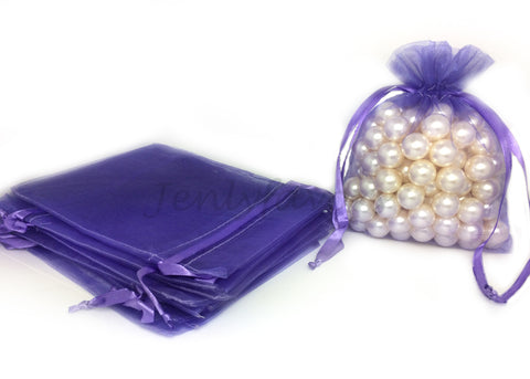 "5"" X 6-1/2"" Purple Organza Bags (24 Pieces)"