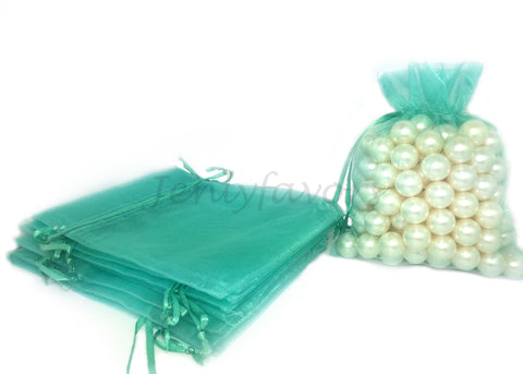 "5"" X 6-1/2"" Tiffany Blue Organza Bags (24 Pieces)"