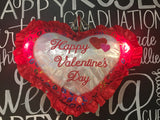 "18"" Happy Valentine's Day Heart Shape Pillow with ""I Love you"" Sound and Light Up"